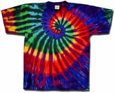 Tie Dye T-shirt Extreme Bright Adult Unisex Tee