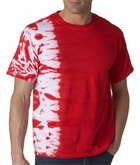 Tie Dye T-shirt Fusion Side Stripe Adult Unisex Tee