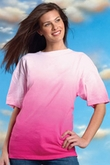 Tie Dye T-shirt -  Graduated Shading Garment Dyed Adult Tee