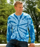 Tie Dye T-shirt Long Sleeve Pinwheel Adult Tee