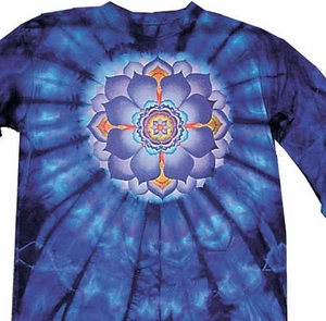 Tie Dye T-shirt - Lotus Flower Long Sleeve Shirt