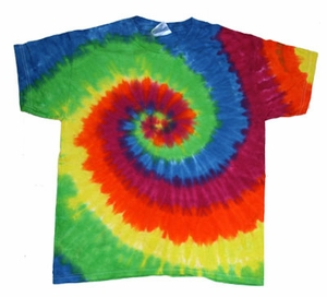 Tie Dye T-shirt Moondance Retro Vintage Rainbow Swirl Adult Tee Shirt