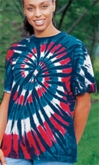 Tie Dye T-shirt - New Glory Spiral Adult Tee