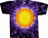 Tie Dye T-shirt - Purple Sun Adult Tee