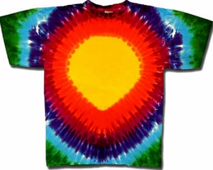 Tie Dye T-shirt - Rainbow Teardrop Adult Tee