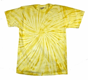 Tie Dye T-shirt Spider Dandelion Retro Vintage Adult Yellow Tee Shirt