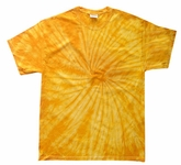 Tie Dye T-shirt Spider Gold Retro Vintage Groovy Adult Tee Shirt