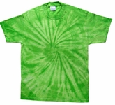 Tie Dye T-shirt Spider Lime Retro Vintage Groovy Green Adult Tee Shirt
