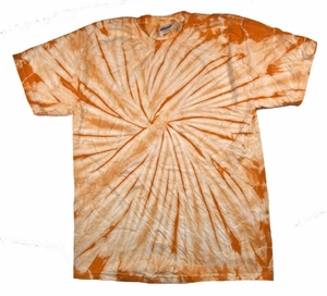 Tie Dye T-shirt Spider Mandarin Retro Vintage Adult Orange Tee Shirt