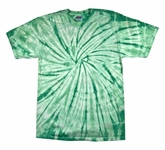 Tie Dye T-shirt Spider Mint Retro Vintage Groovy Green Adult Tee Shirt