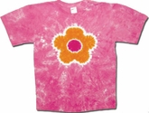 Tie Dye T-shirt - Sundog Dawn Flower Pink Adult Tee