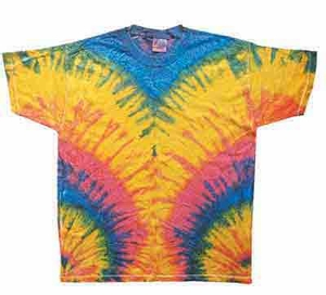 Tie Dye Woodstock Retro Vintage Groovy Youth Kids T-Shirt Tee Shirt