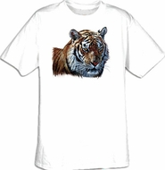 Tiger T-shirt - Tiger Head Amazing Wildlife Adult Tee