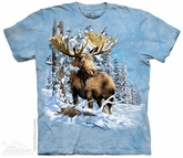 Trophy Moose Shirt Tie Dye Adult T-Shirt Tee