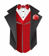 Tuxedo Shirts With Red Vest T-Shirts