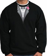 Tuxedo Sweatshirt With Pink Flower