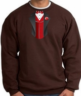 Tuxedo Sweatshirt With Red Vest