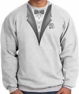 Tuxedo Sweatshirt With White Flower � Ash