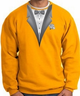 Tuxedo Sweatshirt With White Flower - Gold