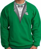 Tuxedo Sweatshirt With White Flower - Kelly Green