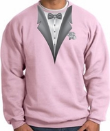 Tuxedo Sweatshirt With White Flower - Pink