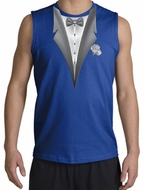 Tuxedo T-Shirt Shooter With White Flower - Royal