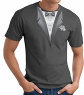 Tuxedo T-Shirt With White Flower - Adult