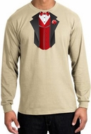 Tuxedo T-Shirts Long Sleeve With Red Vest