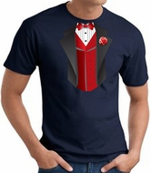 Tuxedo T-Shirts With Red Vest Tees