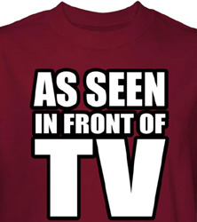 TV Shirt As Seen In Front Of TV Cardinal Tee T-shirt