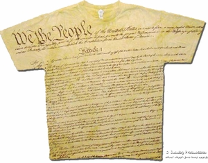 US Constitution T-Shirt - American Patriotic Adult Tee