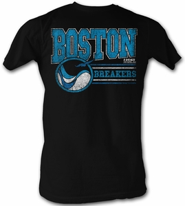 USFL Boston Breakers T-shirt Football League Adult Black Tee Shirt
