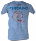 USFL Chicago Blitz T-shirt Football League Blue Heather Tee Shirt