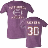 USFL Pittsburgh Maulers T-shirt Mike Rozier Adult Purple Heather Tee