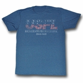 USFL Shirt USFL Logo Adult Blue Heather Tee T-Shirt