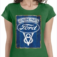 V8 Genuine Ford Parts Ladies Shirts