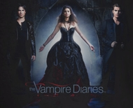 Vampire Diaries In Black Shirts
