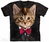 Vampire Kitten Shirt Tie Dye Adult T-Shirt Tee