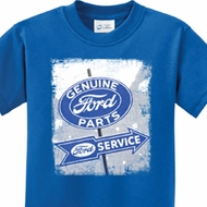 Vintage Sign Genuine Ford Parts Kids Shirts