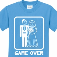 White Game Over Kids Shirts