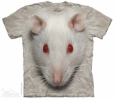 White Rat Face Shirt Tie Dye Adult T-Shirt Tee