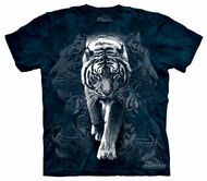 White Tiger Kids Shirt Tie Dye Big Cat Stalk T-shirt Tee Youth