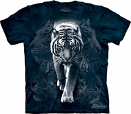 White Tiger Shirt Tie Dye Big Cat Stalk T-shirt Adult Tee