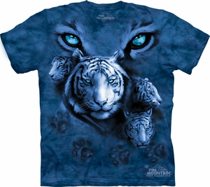 White Tiger Shirt Tie Dye Cat Eyes T-shirt Adult Tee