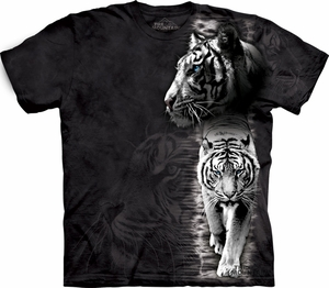 White Tiger Shirt Tie Dye Stripe T-shirt Adult Tee