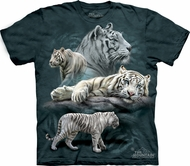 White Tiger Shirt Tie Dye T-shirt Collage Adult Tee