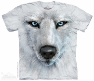 White Wolf Shirt Tie Dye Adult T-Shirt Tee