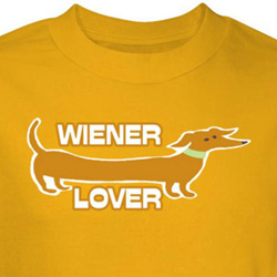Wiener Lover Dog Shirt Yellow Tee T-shirt