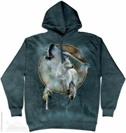 Wolf Dream Catcher Hoodie Tie Dye Adult Hooded Sweat Shirt Hoody