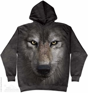 Wolf Face Hoodie Tie Dye Adult Hooded Sweat Shirt Hoody